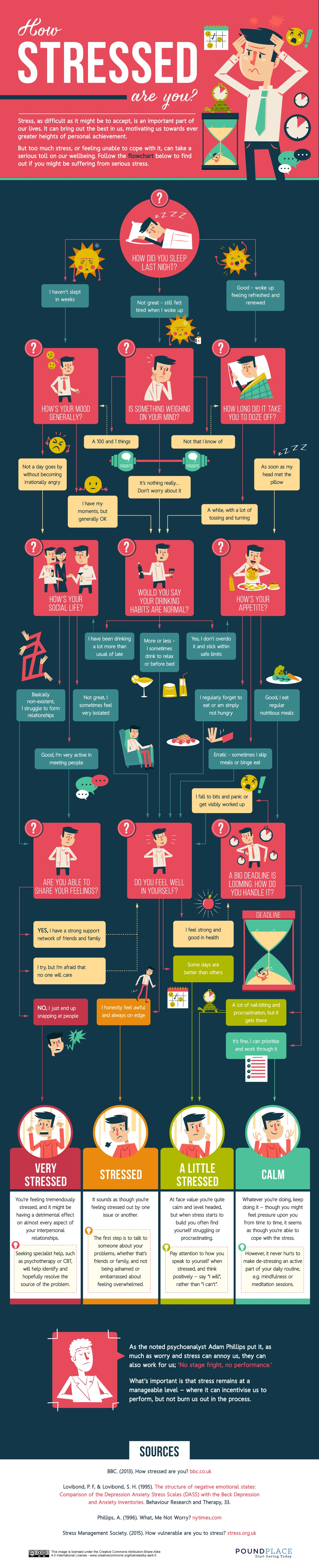how-stressed-are-you- Flowchart for entrepreneurs and Digital Marketers