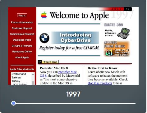 Apple's website in 1997