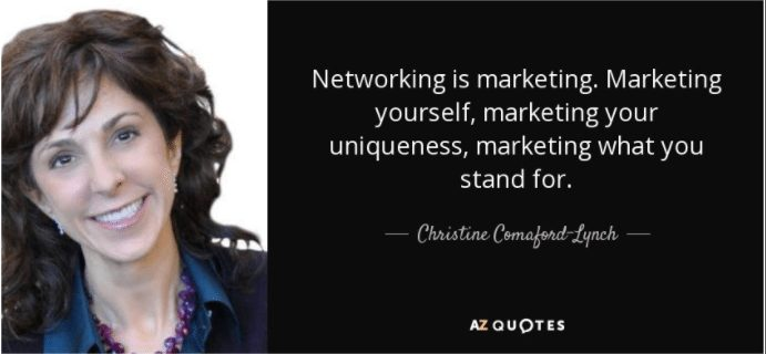 Networking is marketing quote