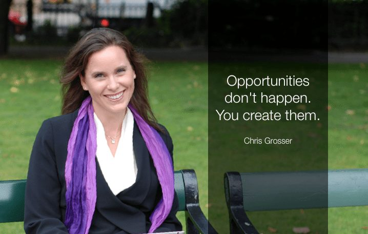 Christine Grosser opportunities quote